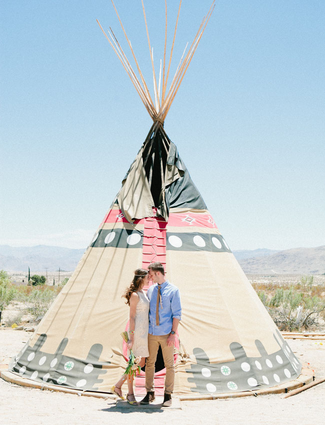 giant tipi wedding