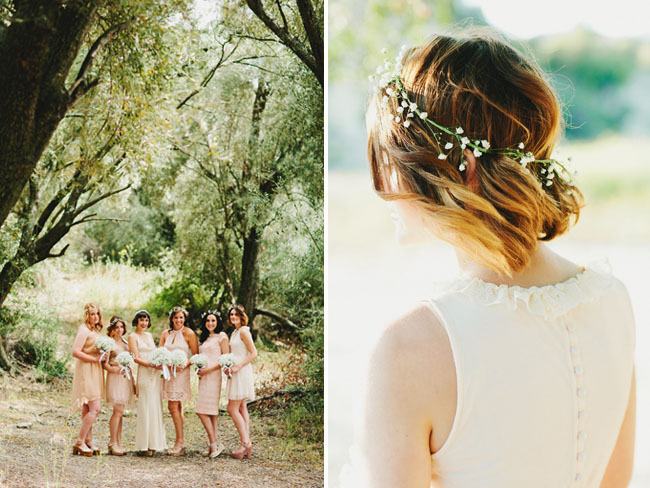 bridesmaids with crowns