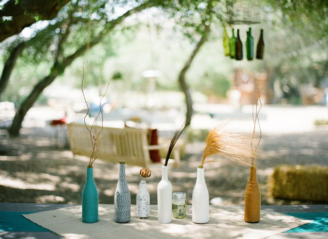 yarn wine bottles