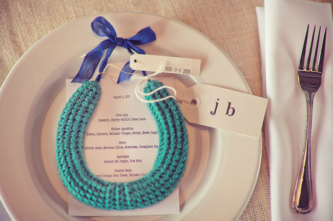 crocheted necklace favors