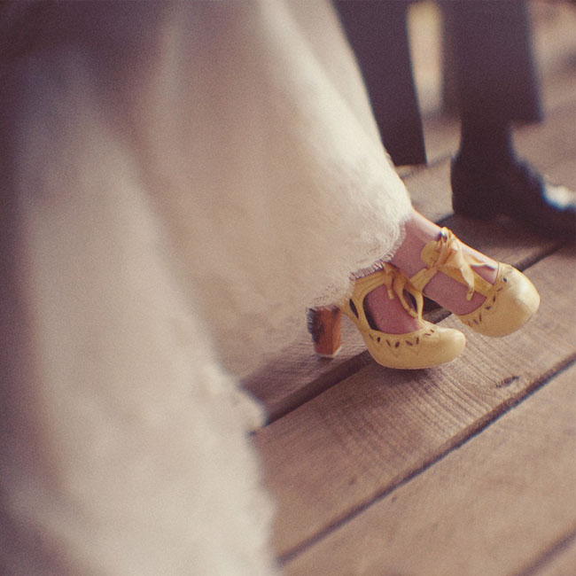 yellow bridal heels