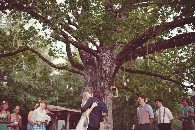 outdoor ceremony with frames