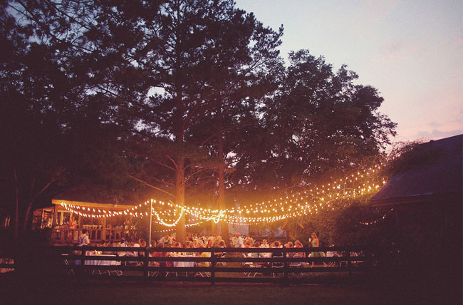 string lights reception