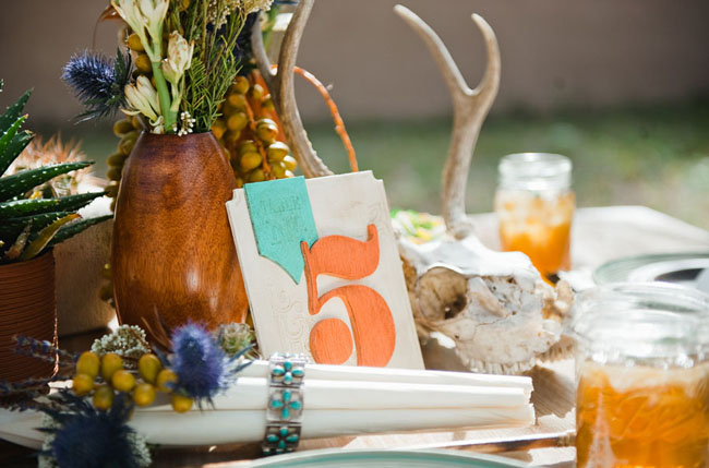 orange table numbers