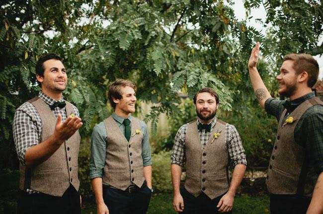 groomsmen wearing vests