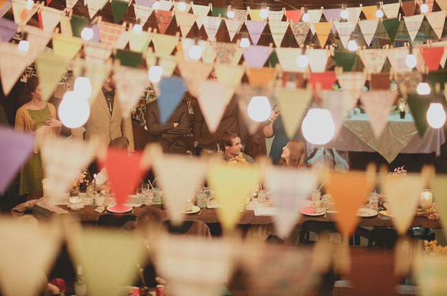 bunting flag venue decor