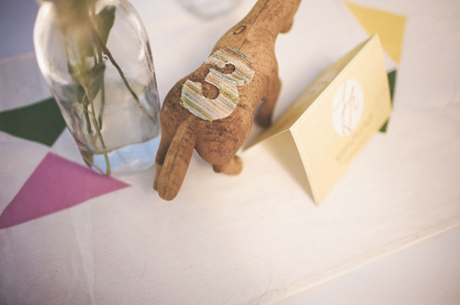 wooden figurine table numbers