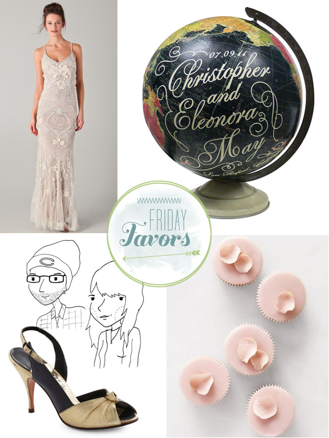 artist wedding globes