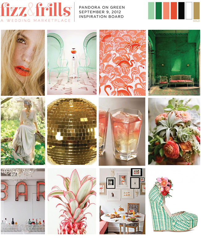 pink green inspiration board