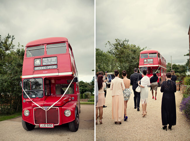 double decker bus wedding