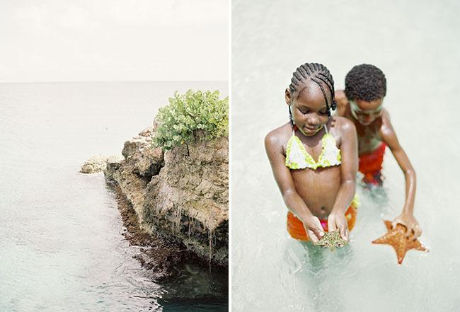 kids holding starfish