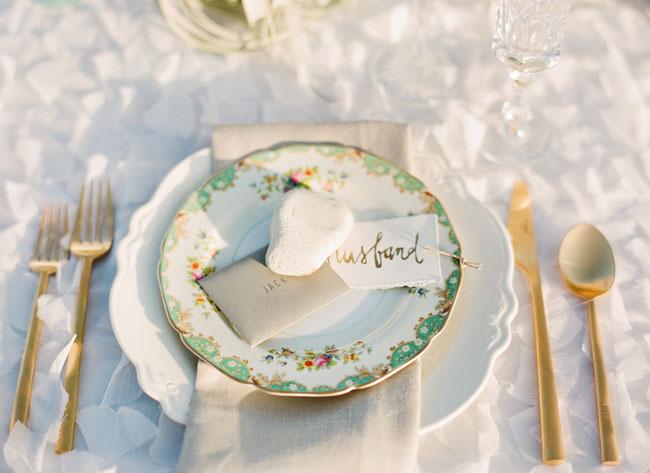 vintage plate wedding