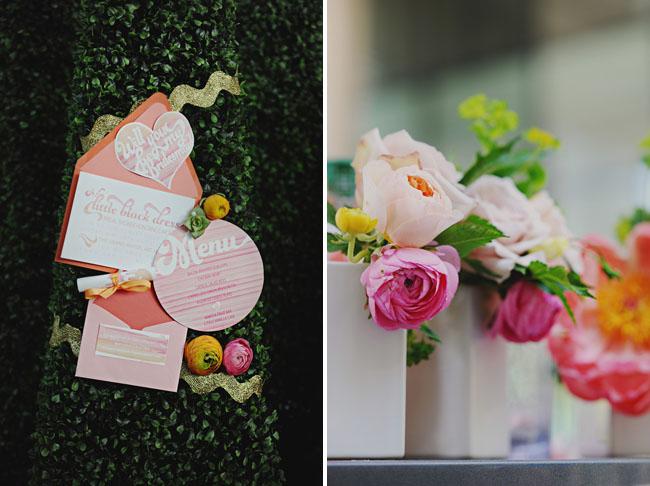 peach bridal shower invite