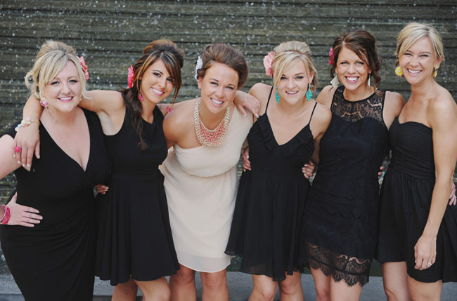 little black dress bridal shower