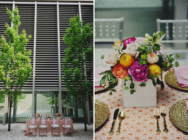bright bridal shower centerpieces