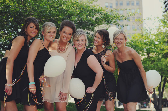 confetti balloon bridesmaids ask