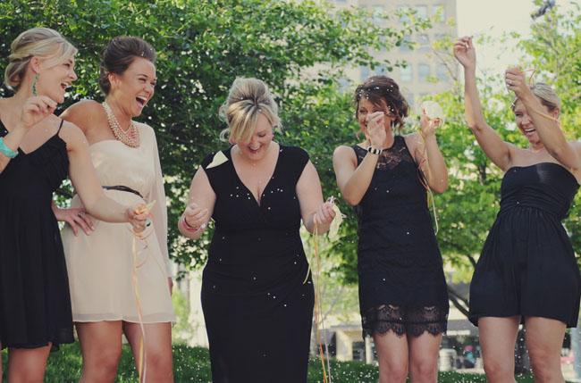 confetti balloon bridesmaids ask