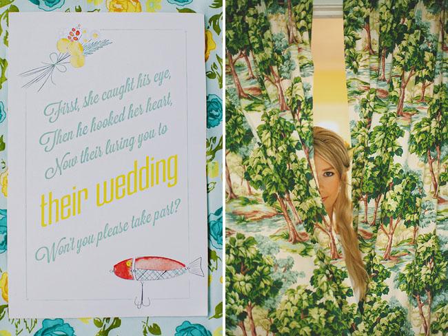 camp wedding invite