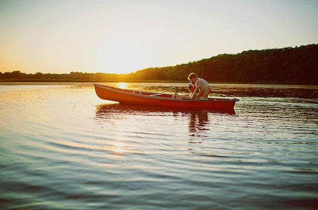 canoe camp wedding