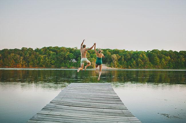 lake camp wedding