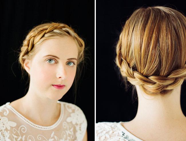 Sensational Braids For Your Bridesmaids Green Wedding Shoes Weddings Short Hairstyles Gunalazisus