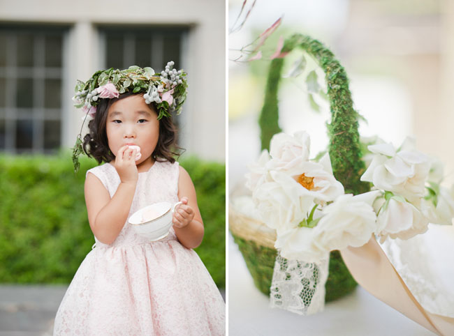 flower girl with crown