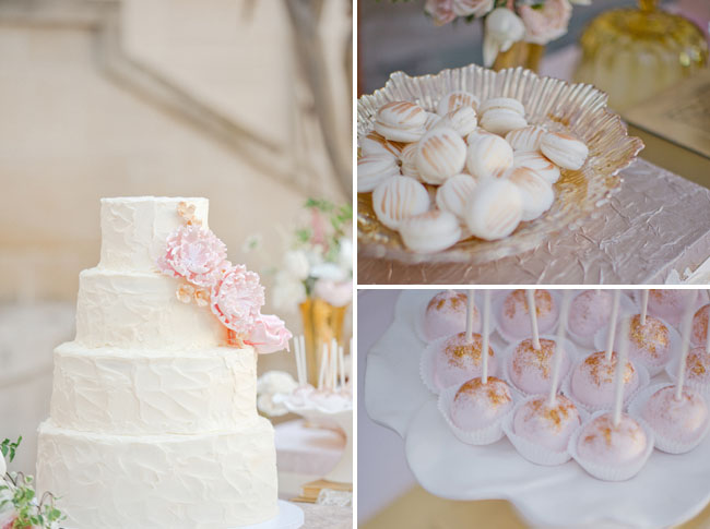 gold dusted cake pops, dessert bar