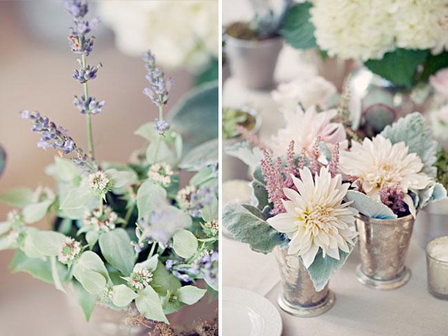 vintage silver floral holders