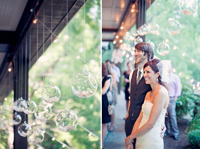 hanging glass orbs