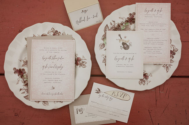 country inspired wedding invitations