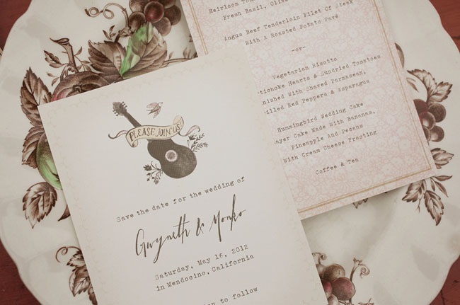 country inspired wedding invitation