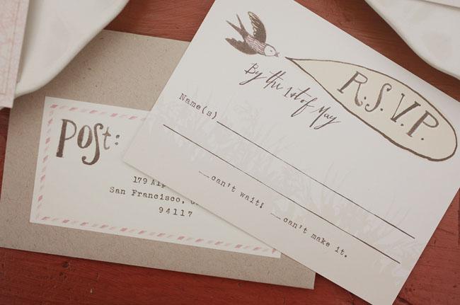country inspired wedding invitation