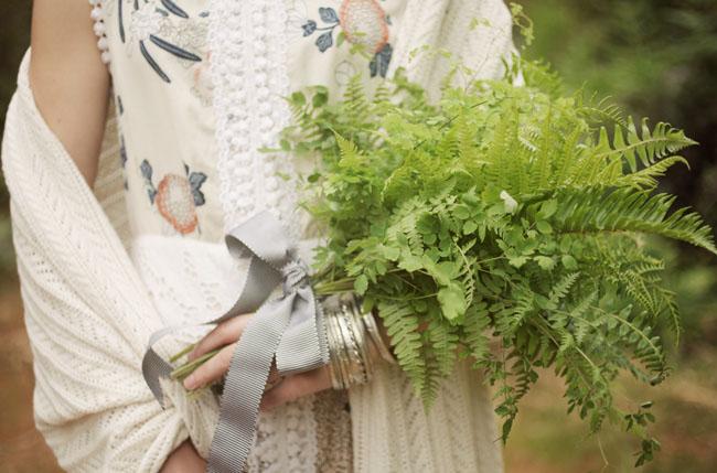 green fern bouquet
