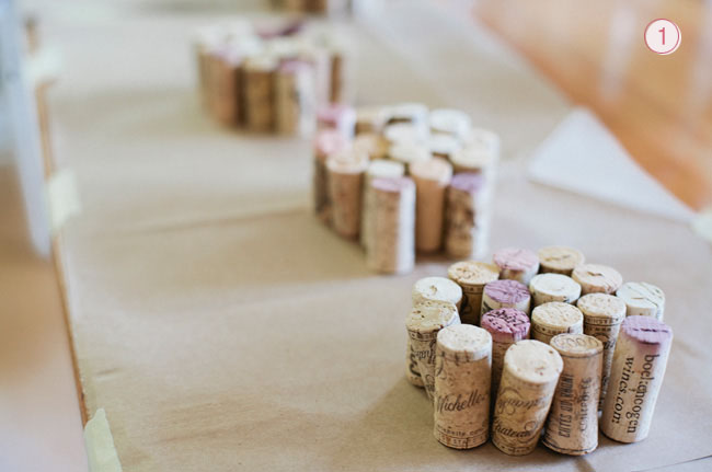 DIY Ombre Cork Heart Step One