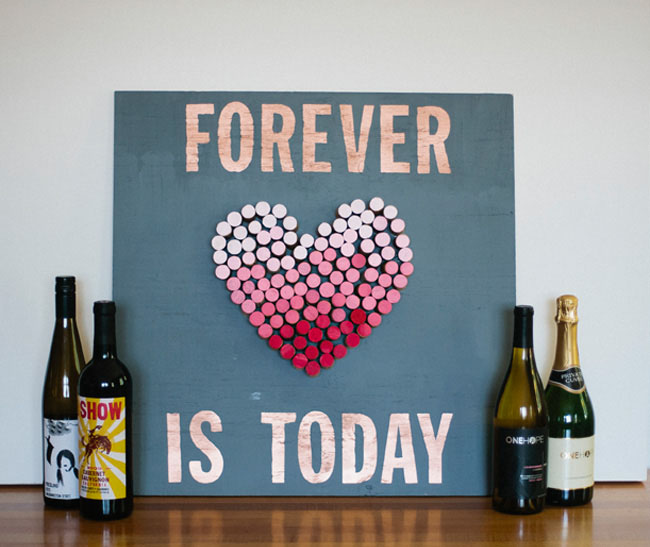 DIY Ombre Cork Heart