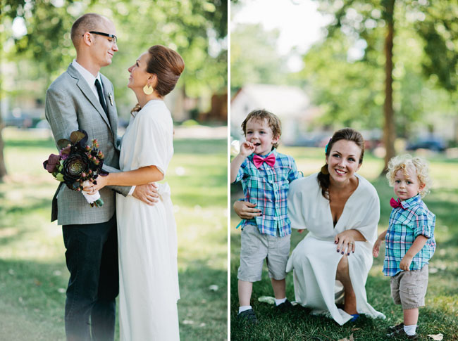 ring bearers with bow ties