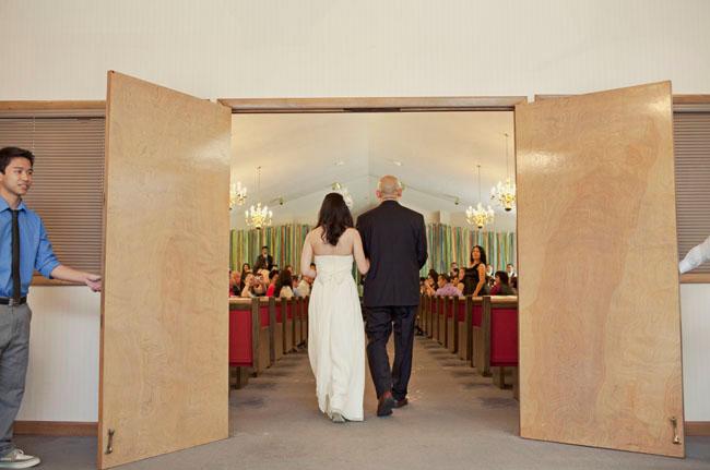giant ribbon wall ceremony