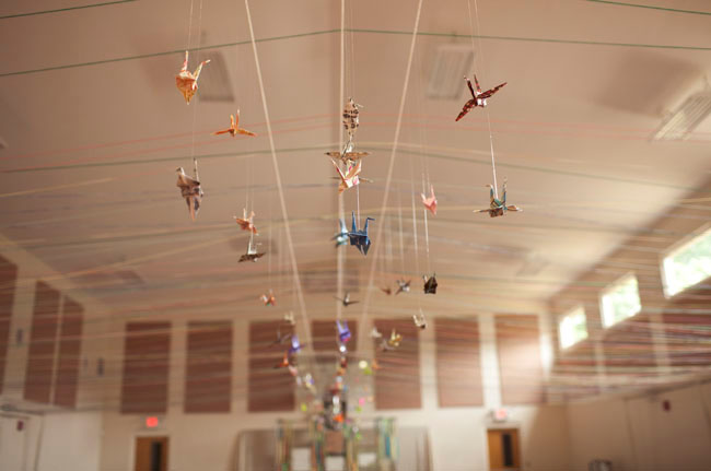 yarn ceiling with cranes