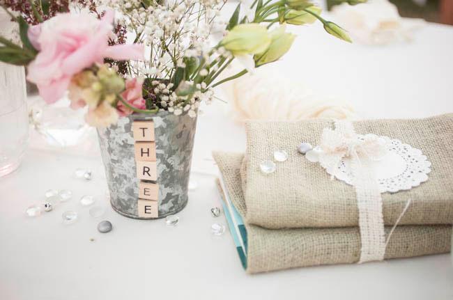 scrabble letter vase