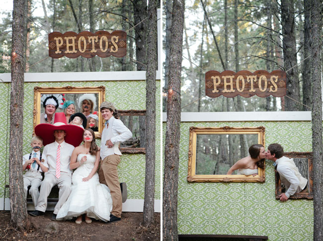 framed wall photo booth