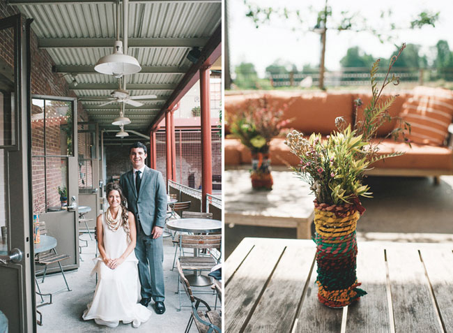 yarn wrapped centerpieces