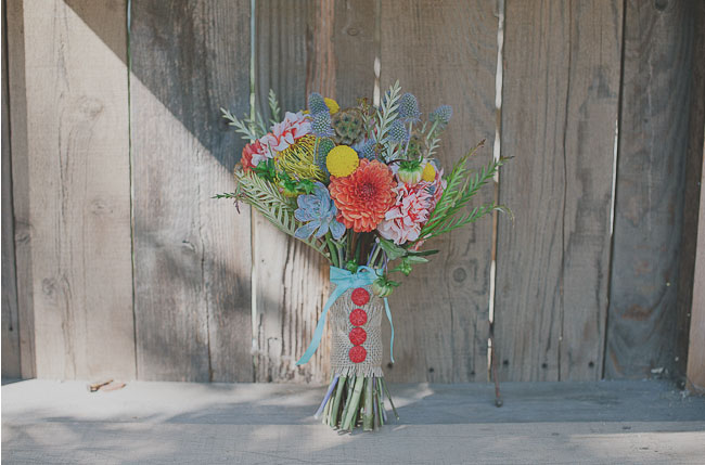 whimsical and bright bouquet