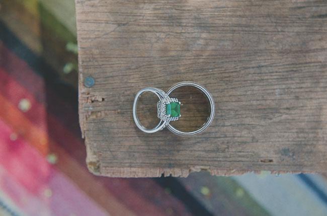 green wedding ring stone