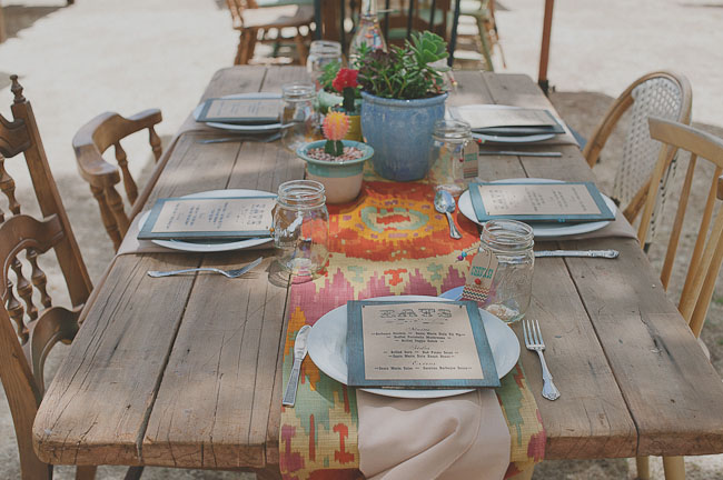 native table runner