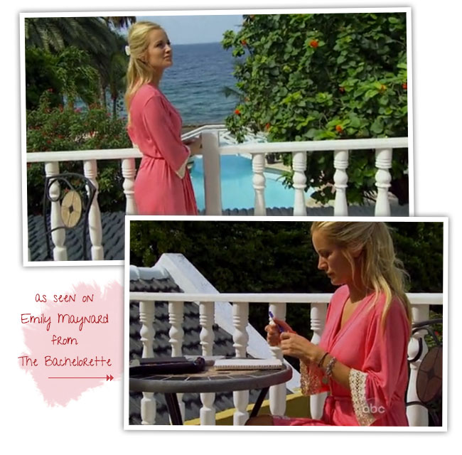 emily maynard in coral love ophelia robe