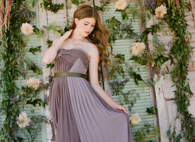 purple dress ruche fall