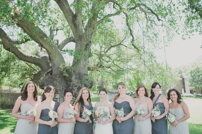 gray bridesmaids