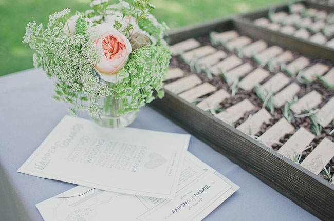 coffee bean escort card holders
