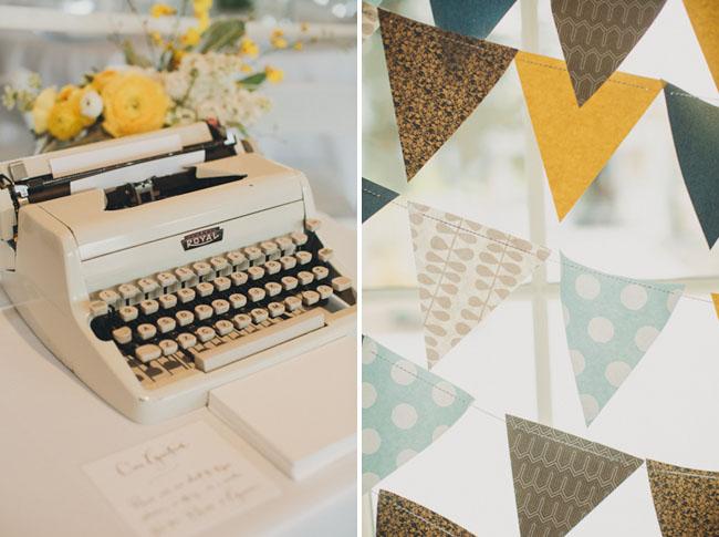 typewriter wedding decor