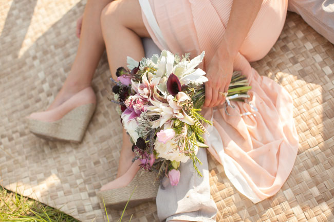 deep purple and pinks bouquet
